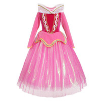 Wholesale cute party dresses for sale - 2018 Fashion Girl Evening dress Halloween Party Cosplay Dresses Cute Long Sleeves Christmas Dresses For Girl Princess Dresses