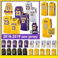 af6e12093 23 LeBron James LeBron Lakers camisa 24 Kobe Bryant Los Angeles Lakers 0  Kyle Kuzma 2 Lonzo bola 14 Brandon Ingram camisa de basquete