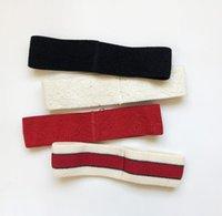 tasarımcılar eşarplar toptan satış-Tasarımcı Elastik Kafa Bandı Kadınlar ve Erkekler için En Kaliteli Marka Yeşil ve Kırmızı Çizgili Saç bantları Kafa Eşarp Çocuklar Için Headwraps Hediyeler