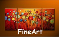 peça de lona colorida abstrata venda por atacado-handmade 3 peça arte abstrata flor óleo lona colorido abstrato arte pendurado decoração de parede decoração de casa moderna