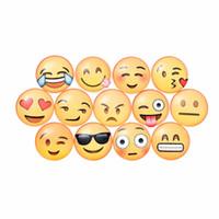imanes de nevera grande al por mayor-30 MM 13 Clases Expresiones Lindo Redondo de Dibujos Animados Emoji Cara Etiqueta Engomada del refrigerador Nevera Imán Notas Mensaje Titular Dome de cristal Inicio