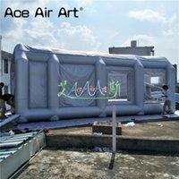 rociar carpas al por mayor-Personalizado stand barato inflable portátil coche tienda / inflable pintura en aerosol con 2 ventiladores en venta