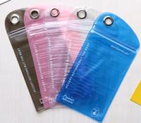 teléfonos celulares transparentes al por mayor-Teléfono impermeable transparente Teléfono celular con pantalla casetouch Bolso impermeable con bolsas de teléfono móvil con estilo colorido móvil
