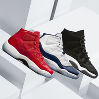 Wholesale Art Legend - 2018 Mens 11 11s Basketball Shoes UNC Gym Red bred space jam concord 72-10 legend blue high quality sports sneakers Eur 41-47
