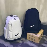 bolsos de mujeres del campus al por mayor-Nuevo bolso de hombro Kobe hombres y mujeres bolsa de estudiante del campus moda tendencia mochila deportiva