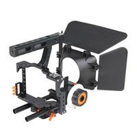 dslr video donanımı toptan satış-Toptan C500 DSLR Kamera Video Kafes Rig ile Mat Kutusu ve Takip Odak Panasonic GH3 Gh4 Sony A7 DSLR Kamera için
