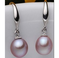 Wholesale natural pearl 12mm for sale - Group buy BEAUTIFUL MM SOUTH SEA PURPLE NATURAL PEARL EARRING K WHITE GIFT BOX