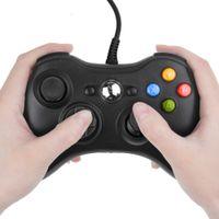 usb joystick controller para pc al por mayor-Controlador Negro nueva conexión de cable USB Gamepad Joypad para Xbox 360 Joystick para PC oficial de Microsoft para Windows 7/8/10