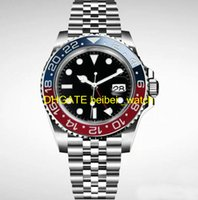 Wholesale automatic machine products - 2018 new luxury men's watch Basel red and blue stainless steel watch 126600 automatic machine core men's watch new products on the shelves f