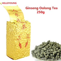 ingrosso tè ginseng cinese-Le vendite calde 250g organico cinese Oolong primo piano del Ginseng Oolong tè verde Salute New Spring Tea Green Food