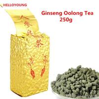 thé de ginseng chinois achat en gros de-Les ventes à chaud 250g Oolong biologique Thé chinois Sélection ginseng Oolong Thé vert des soins de santé Nouveau printemps thé vert alimentaire