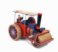 ingrosso giocattoli a vento in metallo-Memoria dell'infanzia Giocattoli antichi di latta Retrò Carica veicoli in metallo Automobili giocattolo Zakka Home Decor Veicolo a rulli a vapore