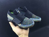 Wholesale White Baby Canvas Shoes - 2018 new baby children boy girl vapormax runner Casual Shoes boys girls vapormaxes trainers knit sneaker Air cushion kids shoes