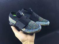 Wholesale Kids Runners - 2018 new baby children boy girl vapormax runner Casual Shoes boys girls vapormaxes trainers knit sneaker Air cushion kids shoes