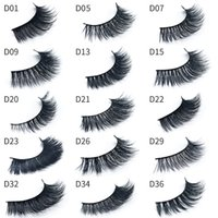 Wholesale models hair extensions - in stock!!3D Mink eyelashes Thick real mink HAIR false eyelashes natural for Beauty Makeup Extension False EYElashes 15 Models By epacket