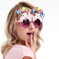Wholesale kawaii mask for sale - Funny Glasses Imitate Cream Cake Happy Birthday Design Party Tools Kawaii Sunglasses Lovely Mask Nightclub Revelry Props Creative Toy sf Z