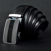 diseñador de marcas de cuero al por mayor-Mejor diseñador de calidad de marca de moda para hombres cinturones de cintura de negocios hebilla automática cinturones de cuero genuino para hombres 105-125 cm envío gratis