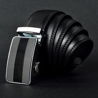 negócio de couro genuíno dos homens venda por atacado-Melhor qualidade de marca de grife de moda dos homens Cintos de Cintura fivela automática Cintos de Couro Genuíno Para Homens 105-125 cm frete grátis