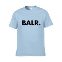 продажа брендов tshirt оптовых-Горячие продажи летние женщины мужчины дизайнер футболки BALR Street Tide Марка с коротким рукавом шею Свободные с коротким рукавом хлопок смесь мужская футболка