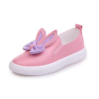 chaussures de danse en plein air achat en gros de-Slip-on Enfants Chaussures Pour Filles Appartements Enfants Chaussures Princesse Party Dance Bébé Enfant Filles Casual Sneaker PU Chaussures De Plein Air