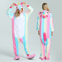 Wholesale Shirt Halloween Adult - 2017 Winter Halloween Adult Woman Pajamas Animal Pyjamas Flannel Pajama Sets Hooded Sleepwear Unicorn Stitch Panda Tigger Totoro