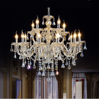 Wholesale lighting hall resale online - Tiffany Chandeliers and pendant Living Room Lamps Lighting Modern Crystal Chandelier Indoor Lamp Hotel Hall Lights