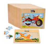 головоломки деревянного поезда оптовых-Детские деревянные головоломки трафика и животных головоломки развивающие игрушки Детские обучение игрушки головоломки детские игрушки игрушки подарки