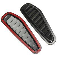 ingrosso adesivo a ventaglio-2 pezzi ABS Plastica Car Air Aspirazione Cappuccio Scoop Turbo Bonnet Vent Copertura Parafango Adesivi Nero Car Styling Decorativo