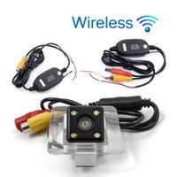 Wholesale car reverse parking camera wireless for sale - Group buy Wireless HD Car Rear View Camera For Benz GLK Parking Backup Reverse Camera Night Vision Waterproof