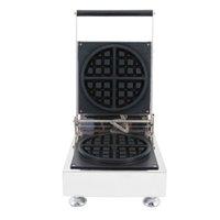 использованные сковородки оптовых-Коммерческое использование 110 в 220 В электрический вафельница машина Бейкер утюг плесень плита Пан в снэк оборудования
