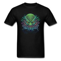 camiseta de pesca al por mayor-Tal vez la camiseta Fish Face T-shirt Men Tops Mutant Tshirt La ropa del monstruo Impreso Summer Camisetas Cotton Tees Green Black Dragon