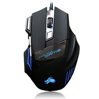 usb mouse al por mayor-Ratón de juego profesional 5500 DPI 7 botones Ratón óptico de USB con cable USB para computadora Pro Gamer Ratón X3