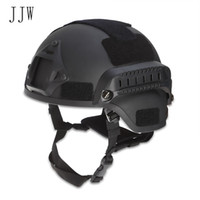 Wholesale adjustable size helmet for sale - Group buy JJW Tactical Helmet Airsoft Gear Paintball Head Protector with Night Vision Sport Camera Mount Adjustable elastic belt