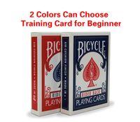carton rouge de chine achat en gros de-1 pièce Bicycle Poker Bleu / Rouge Standard Vélo Cartes à jouer Tours magiques MADE IN CHINA Carte de Poker pour la formation pour débutant GYH