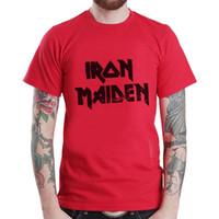 партийные группы оптовых-Iron Maiden metal rock band music tee party подарок футболка цвет Джерси печати футболка