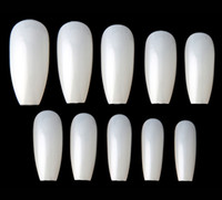 Wholesale square tip nails online - New Ballerina Nail Tips Full Coffin Shape French Fake Nail Professional Nail Art Tip Square Style Nature False Nails Tool
