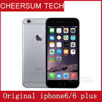 Wholesale Apple Iphone 16gb Unlocked - Unlocked Original iPhone 6 Plus iPhone6 Dual Core 1GB RAM 16GB 64GB 128GB ROM 8MP 1080p Multi-Touch WCDMA 4G LTE Cellphone without Touch