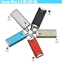baterias de vapor mod para cera venda por atacado-Autêntico Yocan Hive 2.0 Kit Kit Vaporizador Hive2.0 650 mAh VV Connecter Bateria Caixa Mod vape caneta de Cera de Óleo Grosso 2 em 1 Cartuchos Atomizers