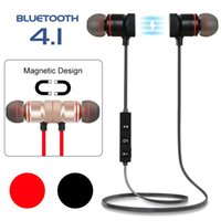 Wholesale ear magnets - HIFI Quality Sport Running Headphone Magnet Attraction Stereo Earphone BT 4.1 Wireless Earphones For iPhone Samsung Huawei LG Smartphones