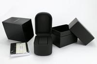 boîte de montre en cuir femmes achat en gros de-2019 Marque De Mode Montres Boîtes De Luxe En Cuir Noir Montres Boîtes Casual Mode Montre Boîte Hommes Et Femmes Montre Cadeau Boîte Livraison gratuite