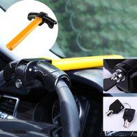 fechaduras de roda de carro anti roubo venda por atacado-Bloqueio do volante do carro Universal Anti-roubo Carro Van Segurança Rotativo Tipo T Bloqueio para o Carro seguro