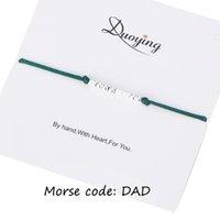 Dawapara Handmade Morse Code Bracelet Custom Multi-color Personalized Hidden Message Father Diy Bracelet For Women/woman Gift Wide Selection; Bracelets & Bangles