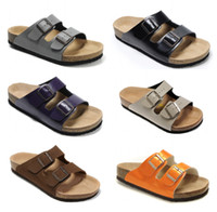 35dcbd3bf4e0 Free Shipping 2018 Birkenstock Men Women Arizona Sandals Flats Cork Slippers  Unisex Casual Shoes Flip Flop Open-toed Sandals Cork Slippers