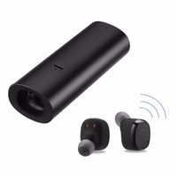 Wholesale power bank samsung original online - Original D01 Stereo Music TWS Mini Bluetooth Headset Twins Earphone with Mic Wireless Recharge Earbud with mAh Power Bank