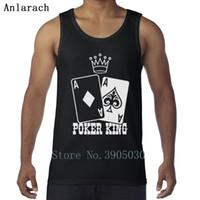 hombres de punto sin mangas al por mayor-Poker Poker King Chalecos Formal Interesantes entrenamientos Awesome Men Tank Top sin mangas de punto Authentic Anlarach Summer