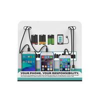 станция мобильной зарядки оптовых-Настенная зарядная станция для мобильных телефонов Com порта 4 порта Зарядное устройство для сотовых телефонов Док-станция для настенной рекламы