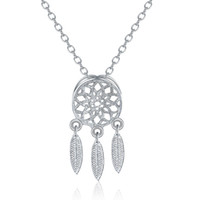 Wholesale coral china necklace for sale - Group buy 30 Sterling Silver Jewelry sets Korean Dream Catchers feather pendant necklace stud earrings set For women ladies Fashion Jewelry