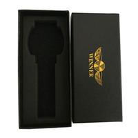 caixas de relógio de luxo venda por atacado-VENCEDOR Marca De Luxo Relógio Caixa De Papel Preto Caixa de Relógio de Presente Materal com Travesseiros caixas Originais