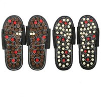 akupunktur hausschuhe großhandel-Fußmassage Hausschuhe Akupunktur-Therapie-Massageschuhe Für die Beine Akupunkturpunkt aktivierende Reflexzonenmassage Fußpflege Massageador Sandale