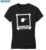 imagem do pescoço venda por atacado-Roupas de verão Tripulação Pescoço Esta É Uma Antiga Imagem De Mim Engraçado Júnior Rude Sexo Adulto Partido Curto Design T Camisas Para mulheres
